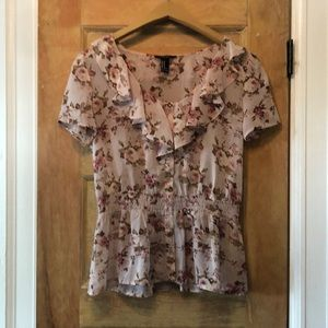 Forever 21 sheer floral top Sz M